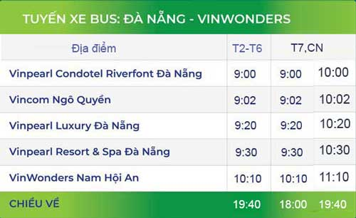bus vinwonders đà nẵng